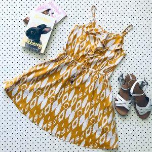Girls Size 8 NEXT UK Strappy Mustard Yellow Dress